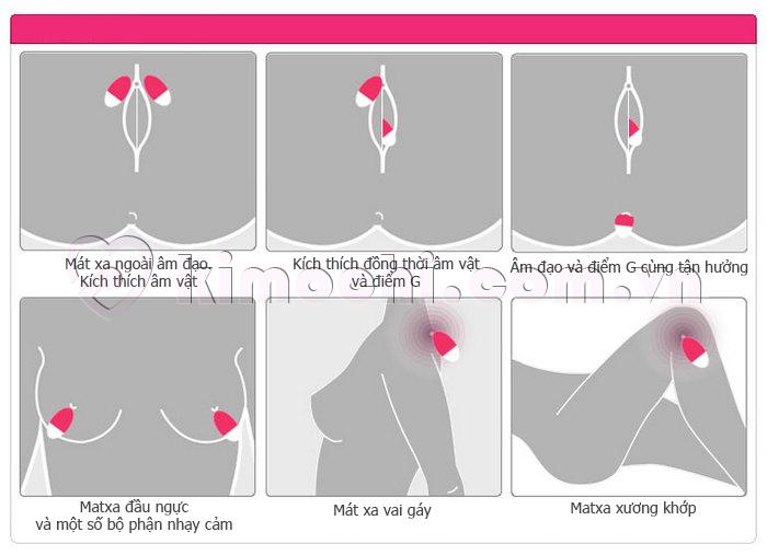 Trứng rung đa tần cực sướng cho nữ Dr.T 6922359300690 mát xa được nhiều vùng trên cơ thể
