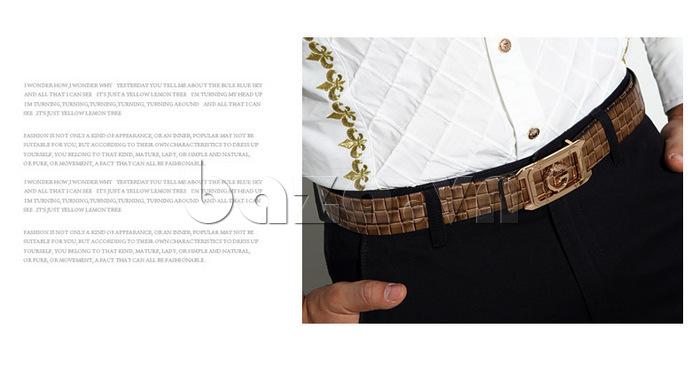 dây lưng nam Feayoo FY-D111 họa tiết đan
