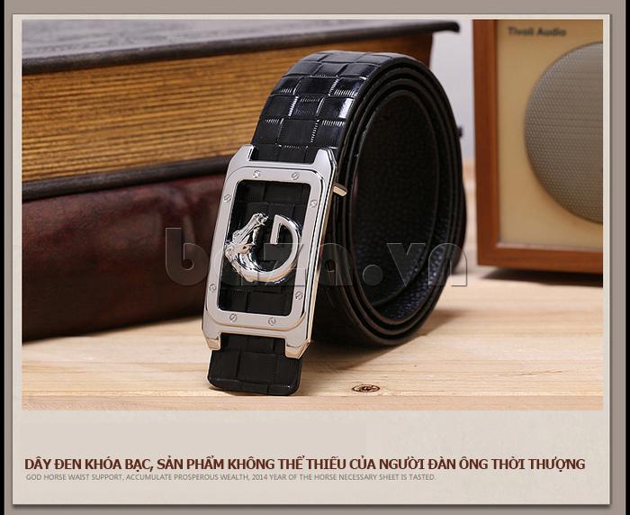 dây lưng nam Feayoo FY-D111 màu đen khóa bạc
