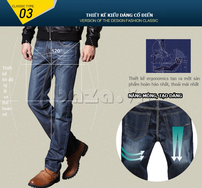 Quần jeans nam cao cấp W&G trẻ trung
