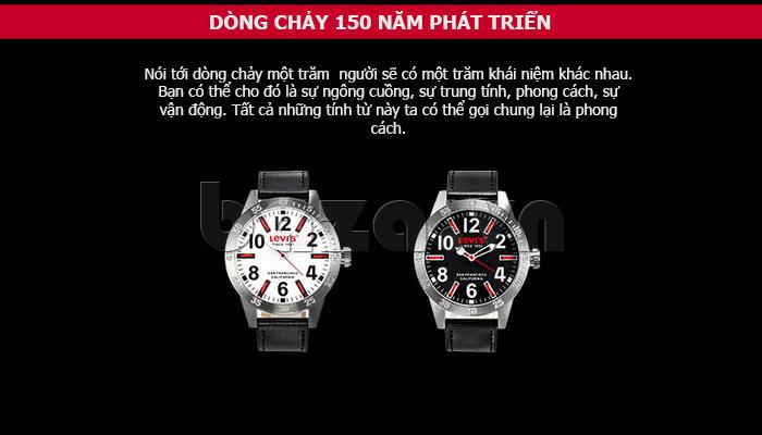 Đồng hồ nam Levis LTG08 số to bản, chống nước hiệu quả lạ