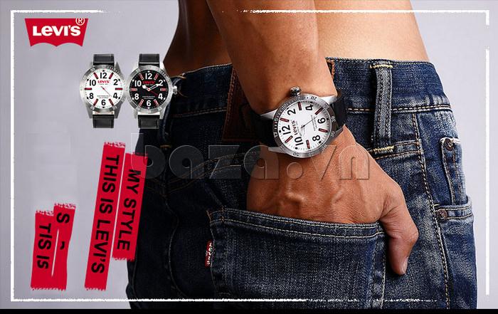 Đồng hồ nam Levis LTG08 số to bản, chống nước hiệu quả