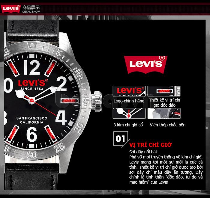 Đồng hồ nam Levis LTG08 số to bản, chống nước hiệu quả hot