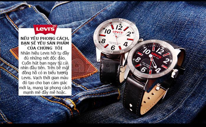 Đồng hồ nam Levis LTG08 số to bản, chống nước hiệu quả đẹp