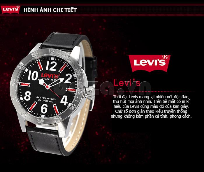 Đồng hồ nam Levis LTG08 số to bản, chống nước hiệu quả độc
