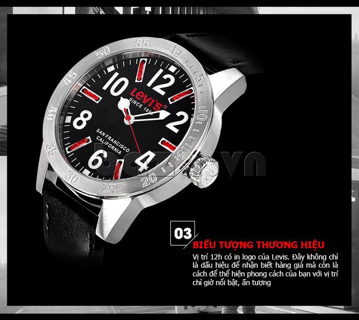Đồng hồ nam Levis LTG08 số to bản, chống nước hiệu quả thời trang