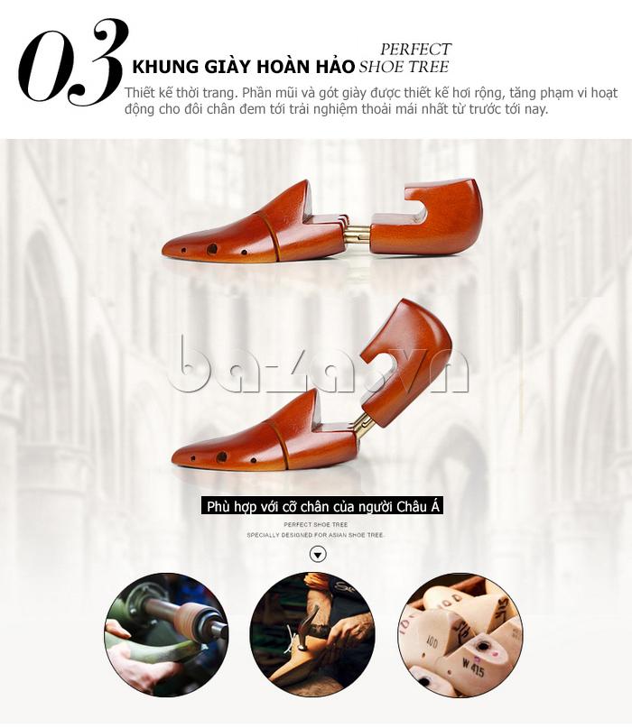 Khung giày hoàn hảo, thiết kế thời trang, mũi và gót giày nam thiết kể để tăng độ thoải mái