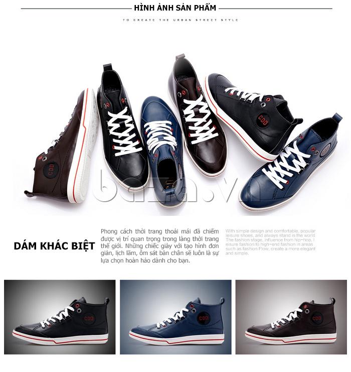 Giày da nam cổ cao CDD 1019 các phiên bản
