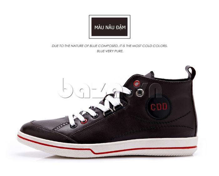 Giày nam thể thao CDD chất da thật màu nâu chững chạc