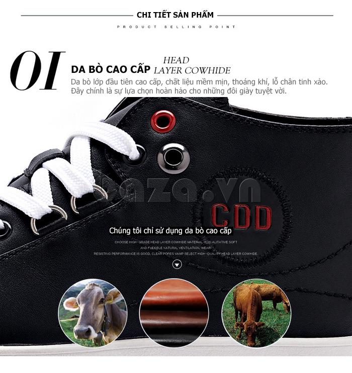 Giày nam phong cách casual làm từ da bò cao cấp