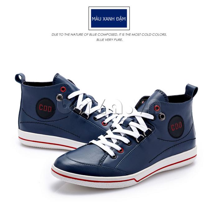 Giày nam thể thao CDD  xanh denim cá tính và trẻ trung