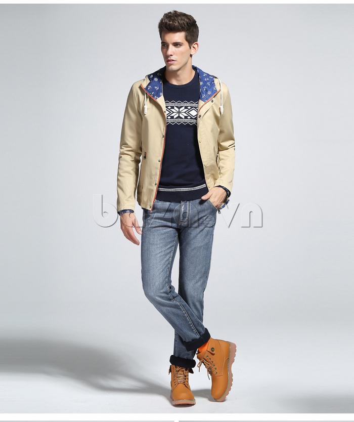 áo khoác nam  mũ trùm No1Dara WTN48506   chất lượng cao cấp