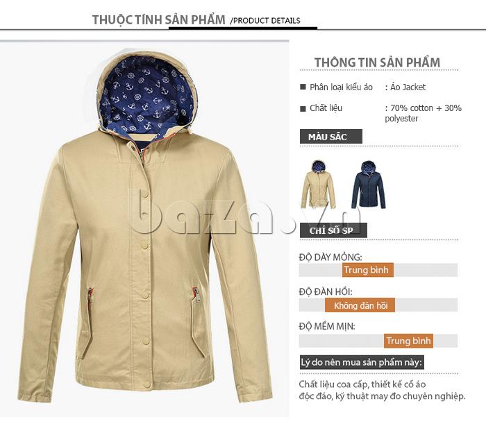 áo khoác nam  mũ trùm No1Dara WTN48506