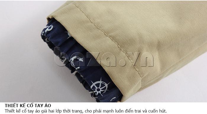 Thiết kế cổ tay áo giả hai lớp thời trang, cho phái mạnh luôn cuốn hút