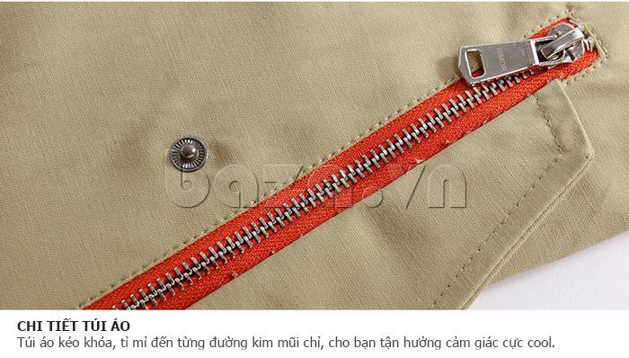 Túi áo kéo khóa, tỉ mỉ đến từng đường kim mũi chỉ