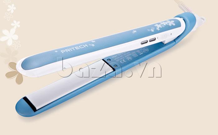 Máy là tóc phủ men gốm Pritech TA-1219 giúp bạn tạo kiểu tóc đẹp