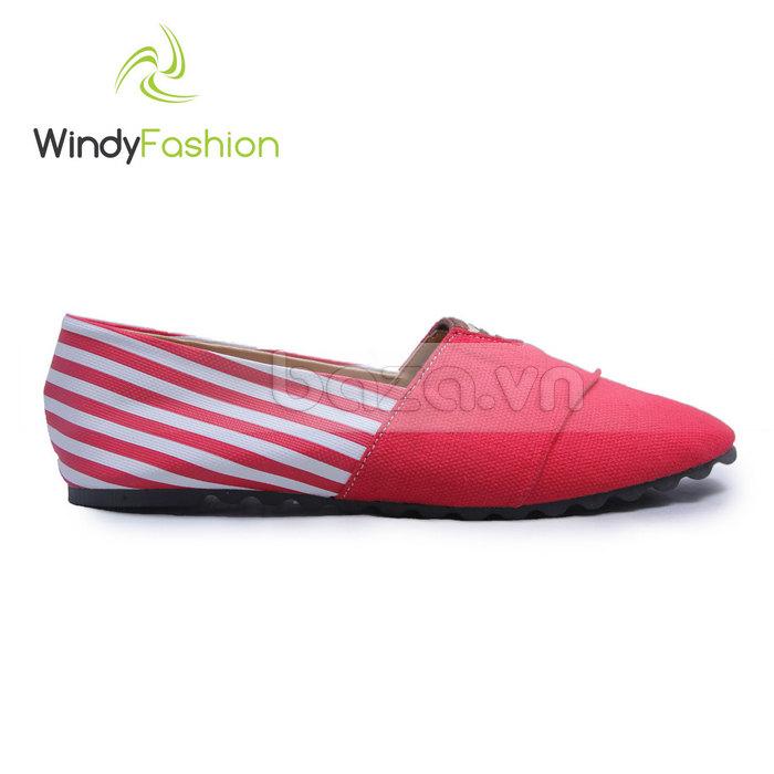 Giày Vải Jeans Phối Da Nữ Windy WD002 độc đáo