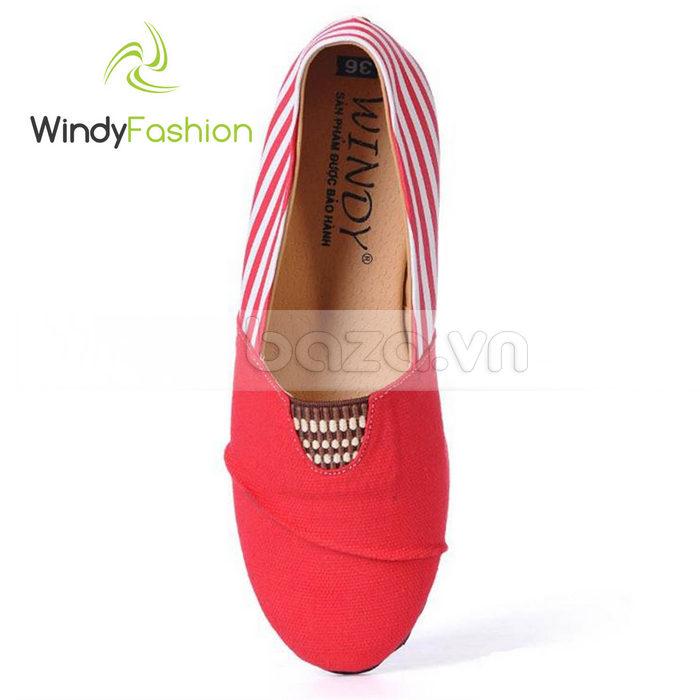 Giày Vải Jeans Phối Da Nữ Windy WD002 lạ