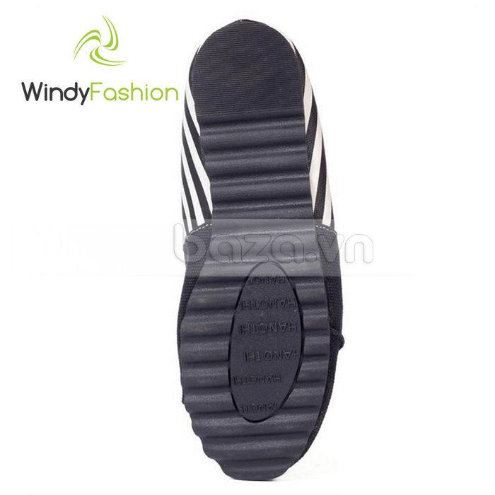 Giày Vải Jeans Phối Da Nữ Windy WD002 đế cao cấp