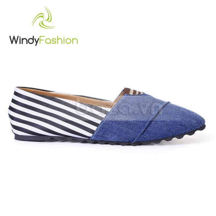 Giày Vải Jeans Phối Da Nữ Windy WD002 nổi bật