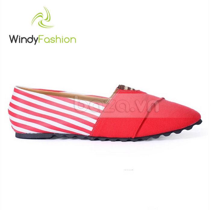 Giày Vải Jeans Phối Da Nữ Windy WD002 đẹp