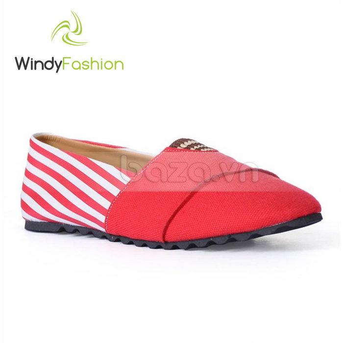 Giày Vải Jeans Phối Da Nữ Windy WD002