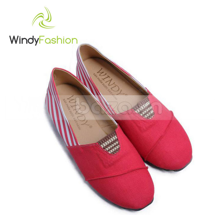 Giày Vải Jeans Phối Da Nữ Windy WD002 tinh tế