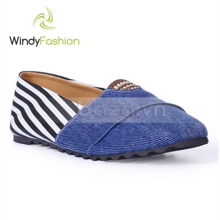 Giày Vải Jeans Phối Da Nữ Windy WD002 chất lượng