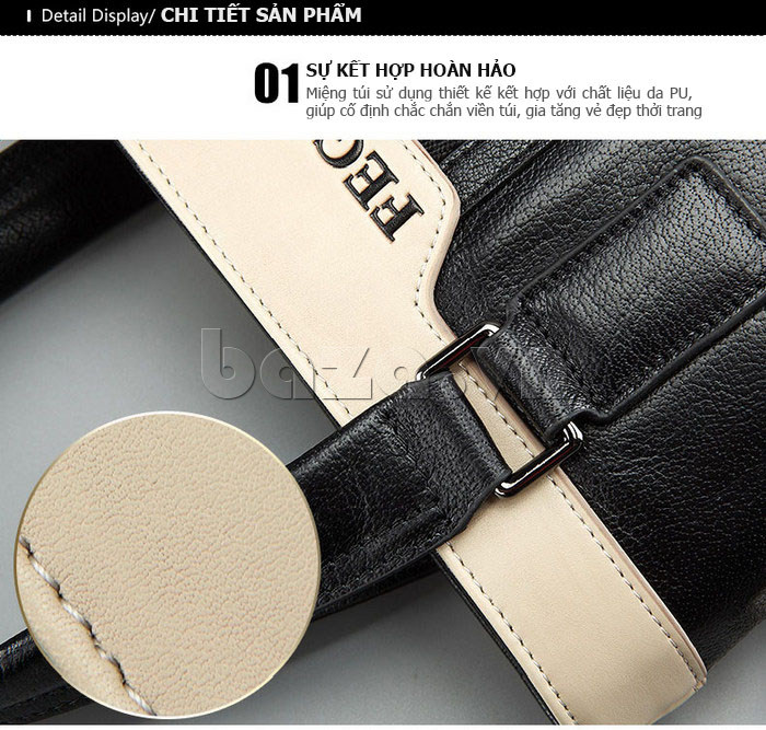 Túi da nam Feger 908-2 hoàn hảo và tinh tế
