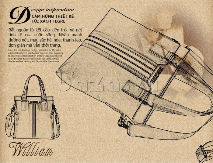 Túi da nam Feger 908-2 đẹp