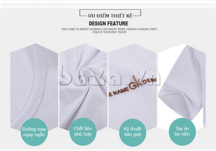 Ưu điểm thiết kế Áo T-Shirt nam cổ tròn Sinhillze 211