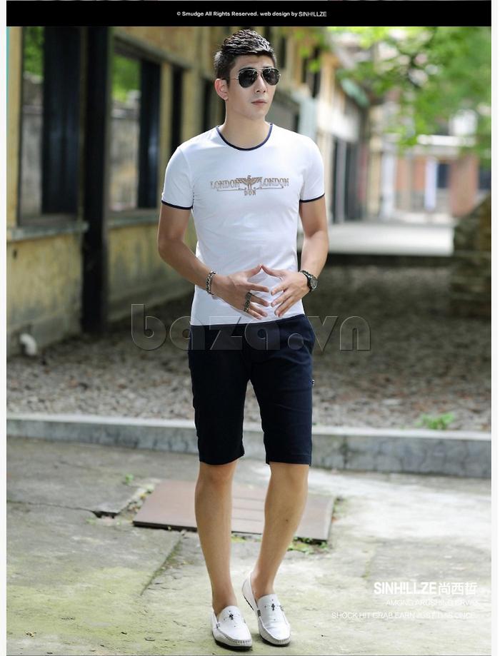 Áo T-Shirt nam Sinhillze 211 màu trắng