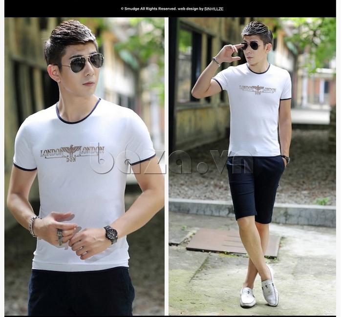 Áo T-Shirt nam Sinhillze 211 dễ dàng mix đồ