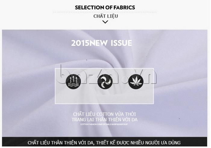 Áo T-Shirt nam cổ tròn Sinhillze 211 chất liệu cotton
