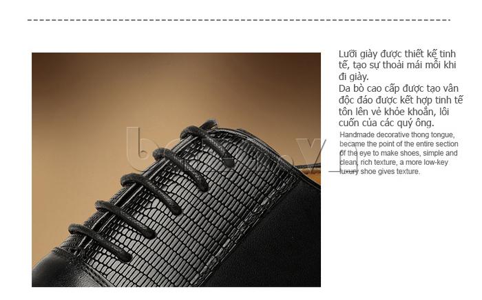 lưỡi giày tinh tế tạo sự thoải mái