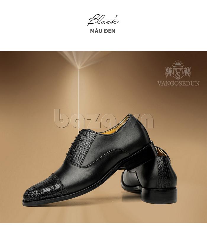 Giày da nam VANGOSEDUN VG6008 mũi da rắn thể hiện đẳng cấp của nam giới