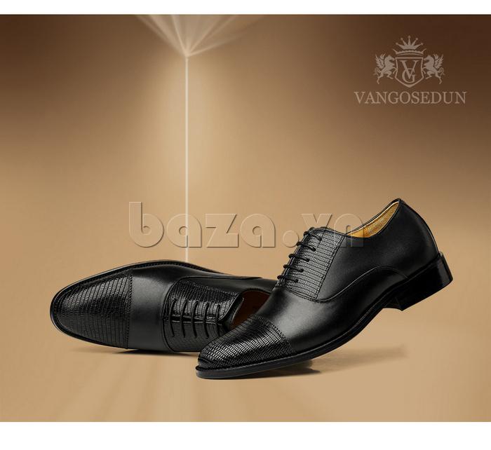 Giày da nam VANGOSEDUN VG6008 mũi da rắn sang trọng và cao cấp