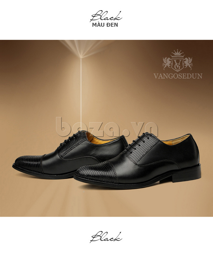 Giày da nam VANGOSEDUN VG6008 mũi da rắn giúp các chàng tự tin xử lý công việc