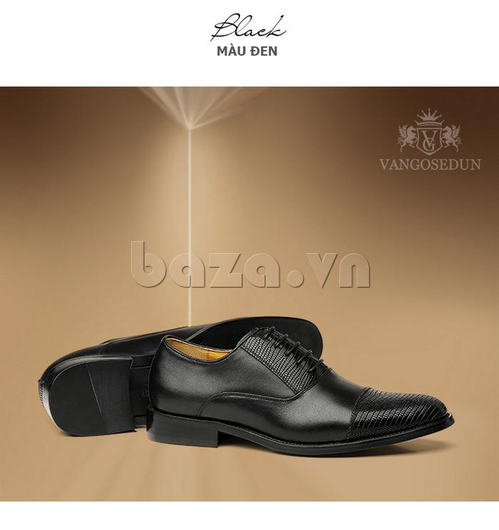 Giày da nam VANGOSEDUN VG6008 mũi da rắn phong cách doanh nhân thành đạt