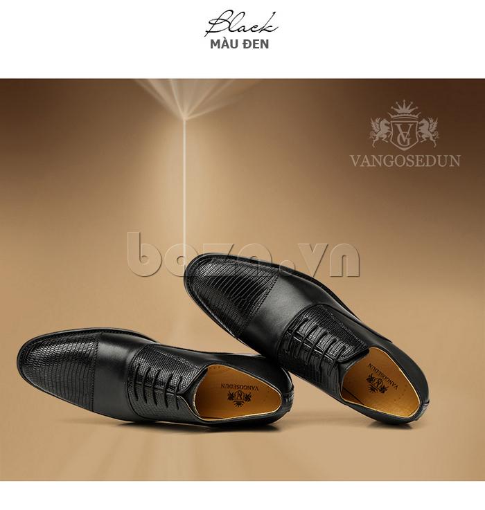 Giày da nam VANGOSEDUN VG6008 mũi da rắn sang trọng và quyến rũ