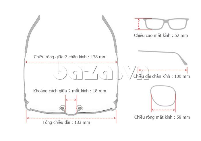 Kính nữ phân cực MSMK 3928 - thiết kế kính hoàn hảo