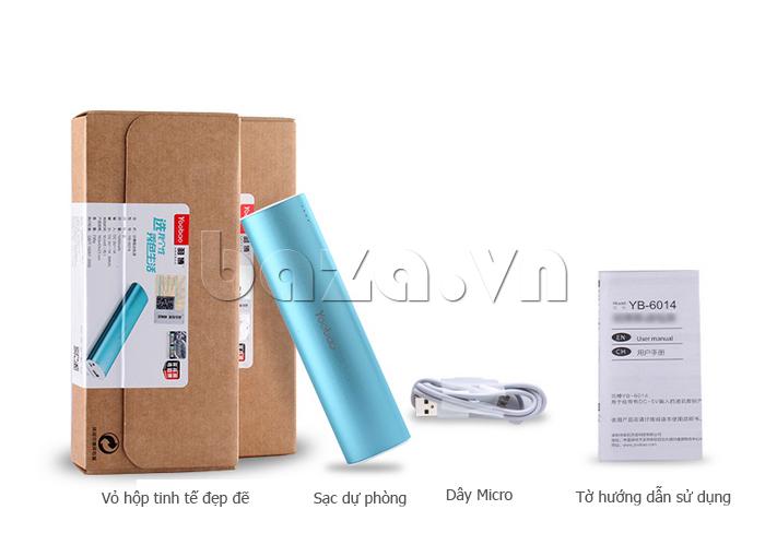 Pin dự phòng di động 10400mA Yoobao YB-6014 bán chạy