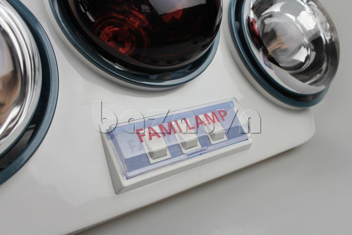 Đèn sưởi nhà tắm Fami có tia hồng ngoại chính hãng Fami