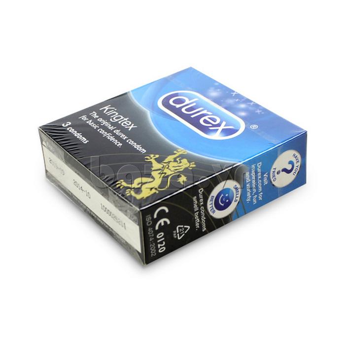 Combo 2 hộp bao cao su kích cỡ nhỏ DUREX KINGTEX 3S chất lượng cao