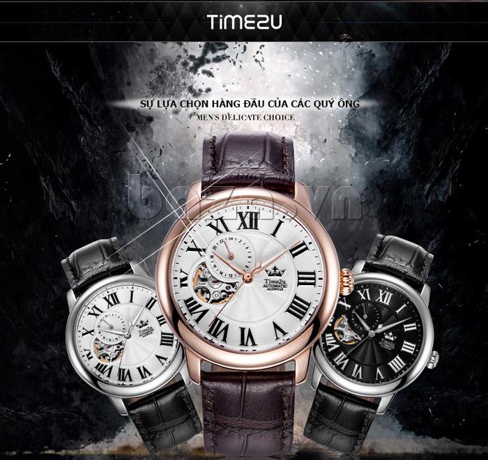 Đồng hồ nam Time2U 91-18997-30003 máy cơ tự động thờ trang