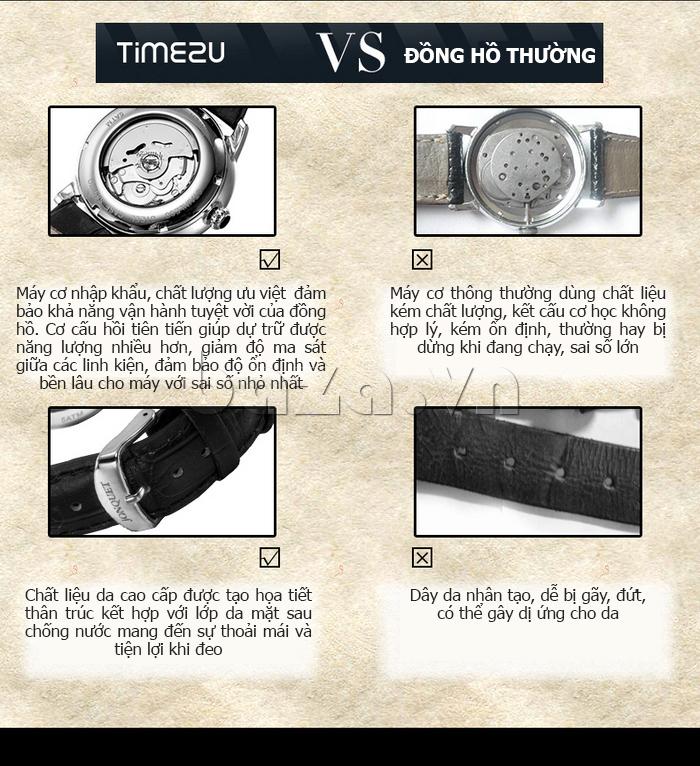 Đồng hồ nam Time2U 91-18997-30003 máy cơ tự động chất lượng