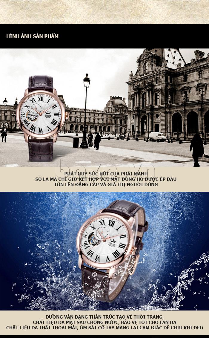 Đồng hồ nam Time2U 91-18997-30003 máy cơ tự động cá tính
