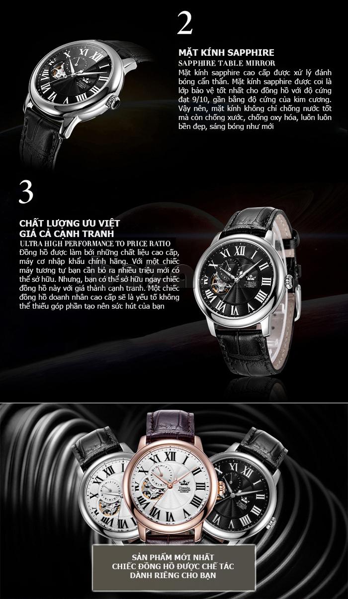Đồng hồ nam Time2U 91-18997-30003 máy cơ tự động đẹp