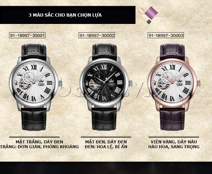 Đồng hồ nam Time2U 91-18997-30003 máy cơ tự động độc đáo