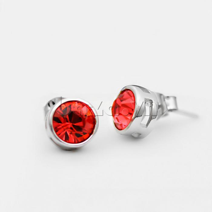 Khuyên tai đá thời trang sắc đỏ quyến rũ